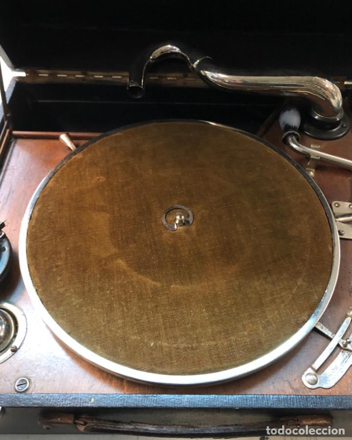 Gramófonos y gramolas: Gramófono EPL LE LUXE PHONIC de MALETA Principios s. XX FUNCIONA - Foto 21 - 143047762