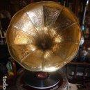 Gramófonos y gramolas: GRAMOFONO FUNCIONADO HIS MASTER´S VOICE CON REGALO DE DISCO Y AGUJAS. Lote 160996686
