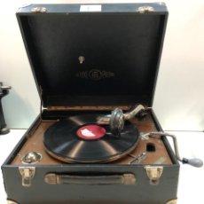 Gramófonos y gramolas: GRAMÓFONO EPL LE LUXE PHONIC DE MALETA PRINCIPIOS S. XX FUNCIONA. Lote 143047762