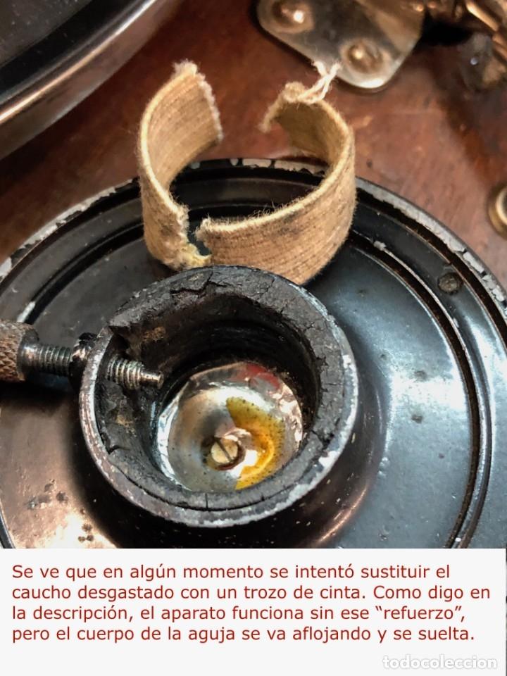 Gramófonos y gramolas: Gramófono EPL LE LUXE PHONIC de MALETA Principios s. XX FUNCIONA - Foto 17 - 143047762