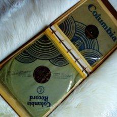 Gramófonos y gramolas: ALBUM DISCOS DE PIZARRA. Lote 145897425