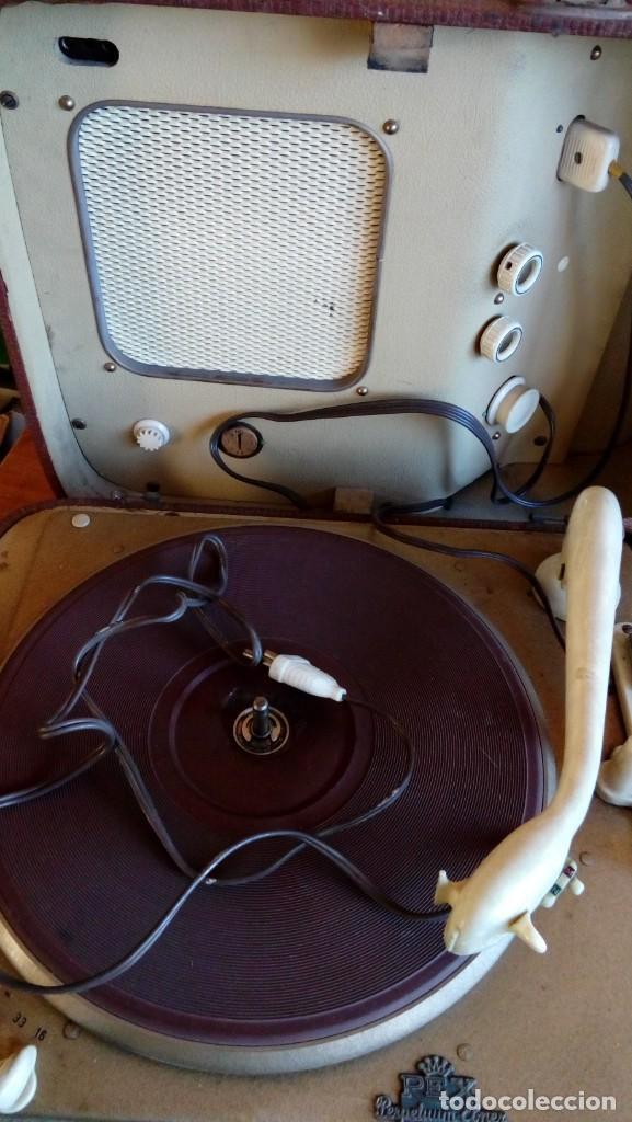 VESIV TOCADISCOS REX PERPETUUN ELNER PARA RESTAURAN SEGUN COMO EL ALTAVOZ HACE RUIDO (Radios, Gramófonos, Grabadoras y Otros - Gramófonos y Gramolas)