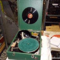 Gramófonos y gramolas: GRAMOLA SALABERT FUNCIONANDO. Lote 146915458