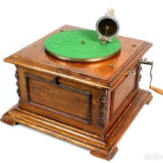 Gramófonos y gramolas: ANTIGUO GRAMOFONO PATHE-ORIGINAL-COLECIONISTAS-. Lote 147902290