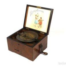 Gramófonos y gramolas: ANTIGUA CAJA DE MUSICA SYPHONIUM MUSIKWERKE-ORIGINAL. Lote 147905278