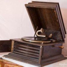 Gramófonos y gramolas: GRAMOFONO INGLES 1920 PIZARRA. Lote 148624690