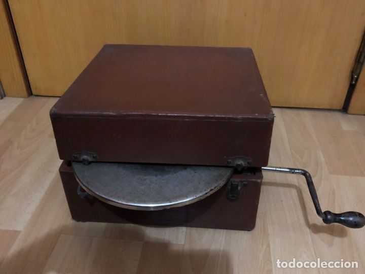 Gramófonos y gramolas: Pequeña Gramola plegable ecophone amplifono con bocina.funciona - Foto 15 - 149395756
