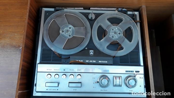 Gramófonos y gramolas: Mueble tocadiscos antiguo Grundig. Aparador antiguo tocadiscos, magnetofono antiguo, radio antigua. - Foto 13 - 150284458