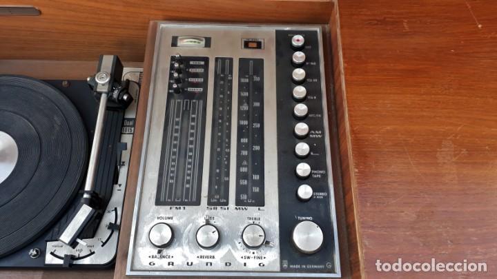 Gramófonos y gramolas: Mueble tocadiscos antiguo Grundig. Aparador antiguo tocadiscos, magnetofono antiguo, radio antigua. - Foto 16 - 150284458