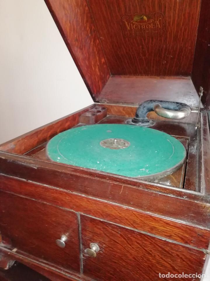Gramófonos y gramolas: VITROLA VICTOR. PRINCIPIOS DE SIGLO XX. PARA DECORACION .ADMITO OFERTAS. - Foto 3 - 153187054