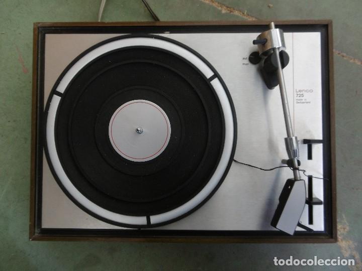 Gramófonos y gramolas: Tocadiscos LENCO 725 - Foto 2 - 153867494