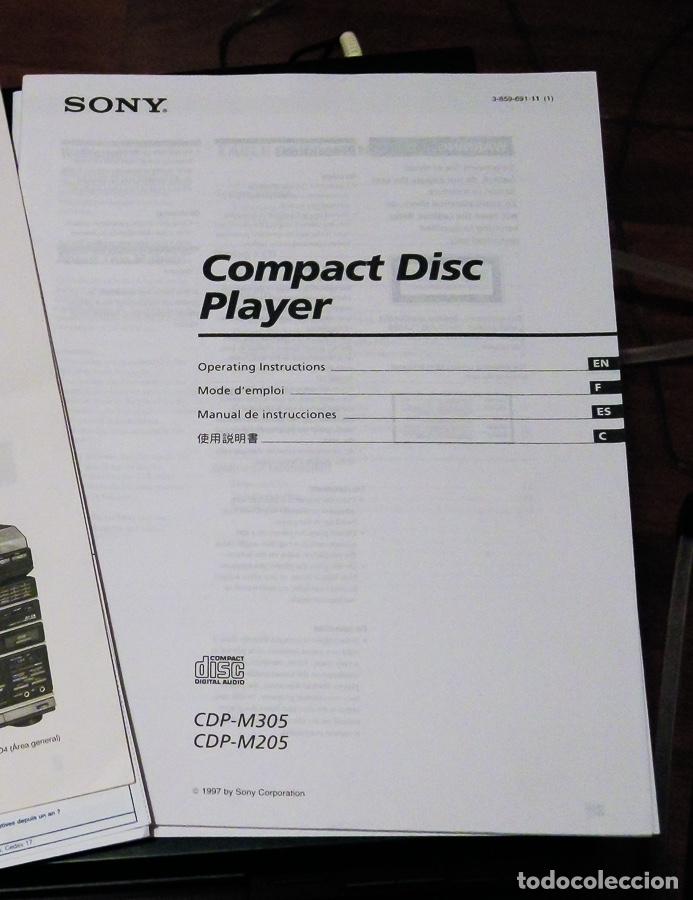 Gramófonos y gramolas: CD PLAYER SONY CDP-M305, reproductor. - Foto 5 - 155036982