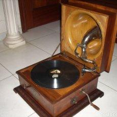 Gramófonos y gramolas: IMPRESIONANTE GRAMOLA ,RARA UNICA FUNCIONANDO MUY BIEN,AÑO 1910. Lote 158917490