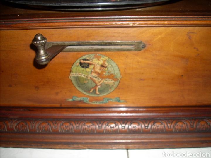 Gramófonos y gramolas: Impresionante Gramola ,rara unica funcionando muy bien,año 1910 - Foto 6 - 158917490