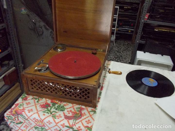 Gramófonos y gramolas: Gramola Funcionando - Foto 3 - 159667362
