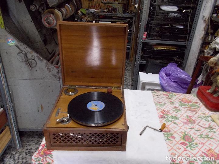 Gramófonos y gramolas: Gramola Funcionando - Foto 5 - 159667362