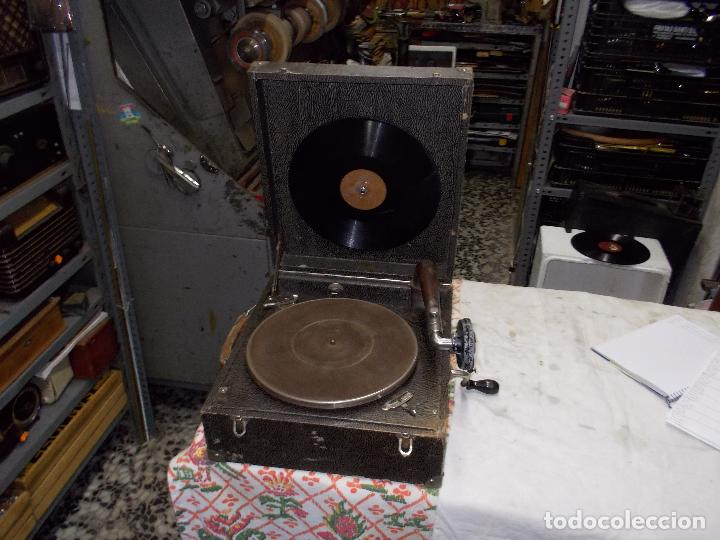 GRAMOLA PATHE FUNCIONANDO (Radios, Gramófonos, Grabadoras y Otros - Gramófonos y Gramolas)