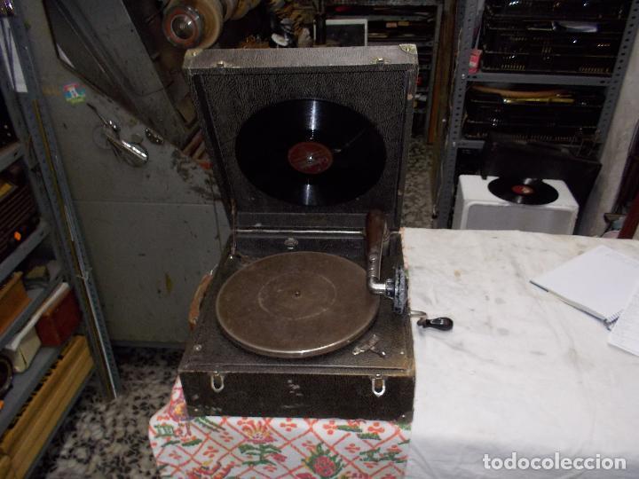 Gramófonos y gramolas: gramola pathe funcionando - Foto 2 - 162779042