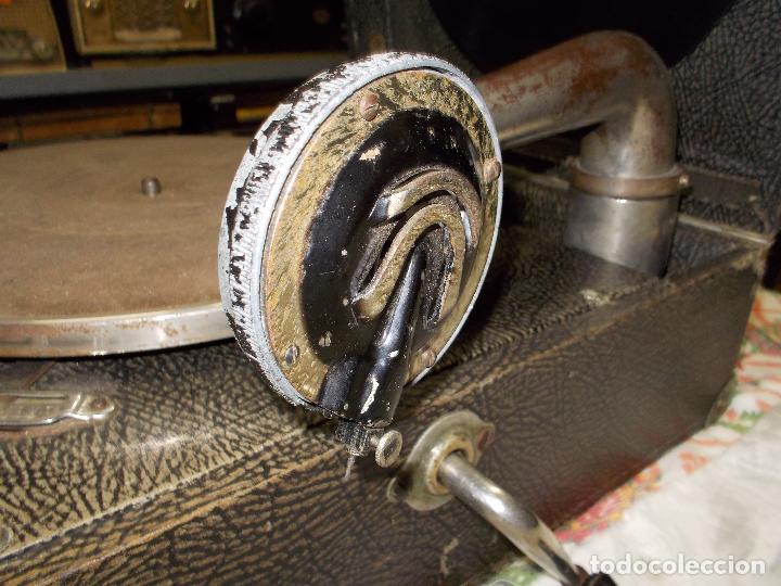 Gramófonos y gramolas: gramola pathe funcionando - Foto 5 - 162779042