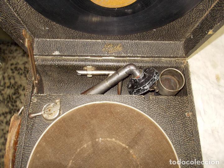 Gramófonos y gramolas: gramola pathe funcionando - Foto 9 - 162779042