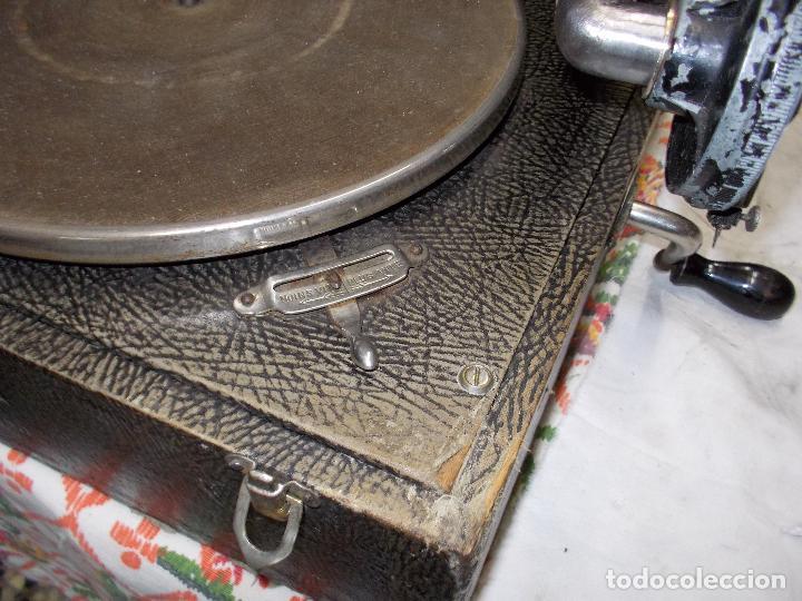 Gramófonos y gramolas: gramola pathe funcionando - Foto 13 - 162779042