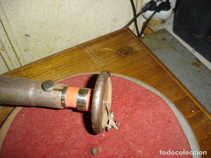 Gramófonos y gramolas: bonito gramophono pathe todo original estado de marcha ver fotos - Foto 2 - 163544942