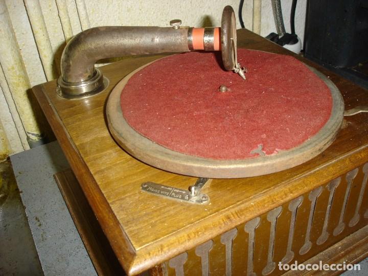 Gramófonos y gramolas: bonito gramophono pathe todo original estado de marcha ver fotos - Foto 3 - 163544942