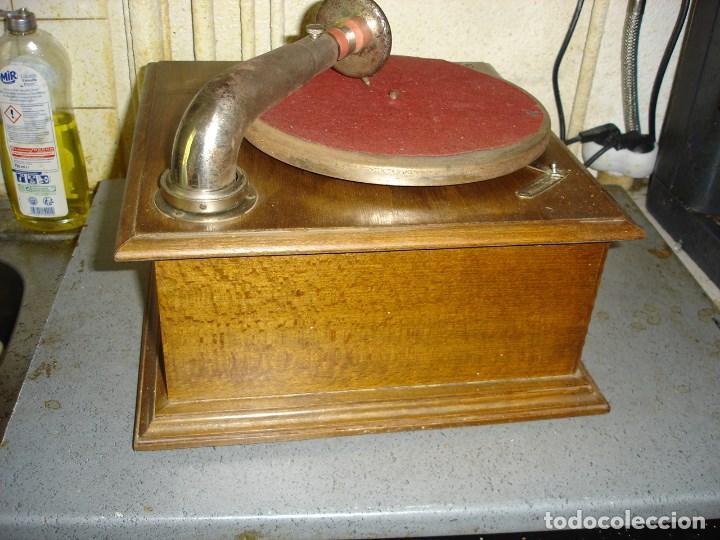 Gramófonos y gramolas: bonito gramophono pathe todo original estado de marcha ver fotos - Foto 5 - 163544942