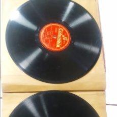 Gramófonos y gramolas: DOS ÁLBUMS CON 21 DISCOS DE PIZARRA. Lote 172322883