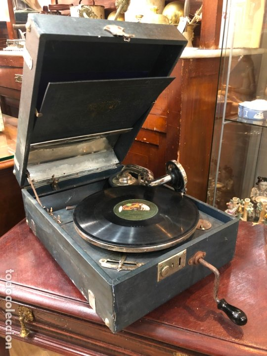 Gramófonos y gramolas: MAGNIFICA GRAMOFONO MALETIN FUNCIONANDO PERFECTAMENTE - Foto 9 - 172530823
