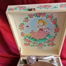Gramófonos y gramolas: GRAMOFONO DECCA NURSERY 1949 , PERFECTO VER VIDEO Y DESCRIPCION. Lote 174041817