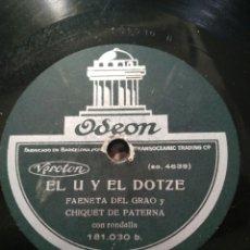 Gramófonos y gramolas: 2 DISCO DE PIZARRA CHIQUET DE PATERNA. Lote 175255074