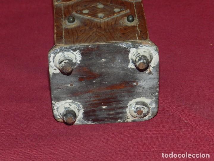 Gramófonos y gramolas: (M) GRAMOFONO EN MINIATURA DE MADERO PRICNIPIOS AÑOS 20, GRAMOFONO ARTE POPULAR - Foto 6 - 175688809