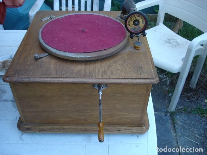 Gramófonos y gramolas: precioso gramophono pathe nuit et jour todo original ver fotos y comentario - Foto 2 - 176155233