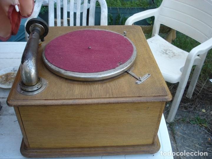Gramófonos y gramolas: precioso gramophono pathe nuit et jour todo original ver fotos y comentario - Foto 5 - 176155233
