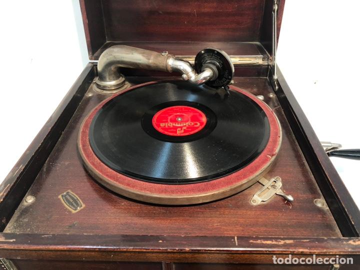 Gramófonos y gramolas: GRAMOFONO DE CAJA MARCA PATHE ANTIGUO. - Foto 3 - 176808327