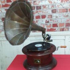 Gramófonos y gramolas: GRAMOLA LA VOZ DE SU AMO - HIS MASTER´S VOICE - REPRODUCCIÓN. Lote 176883858