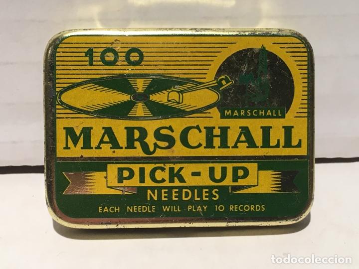 ANTIGUA CAJA DE AGUJAS DE GRAMOFONO MARSCHALL (Radios, Gramófonos, Grabadoras y Otros - Gramófonos y Gramolas)
