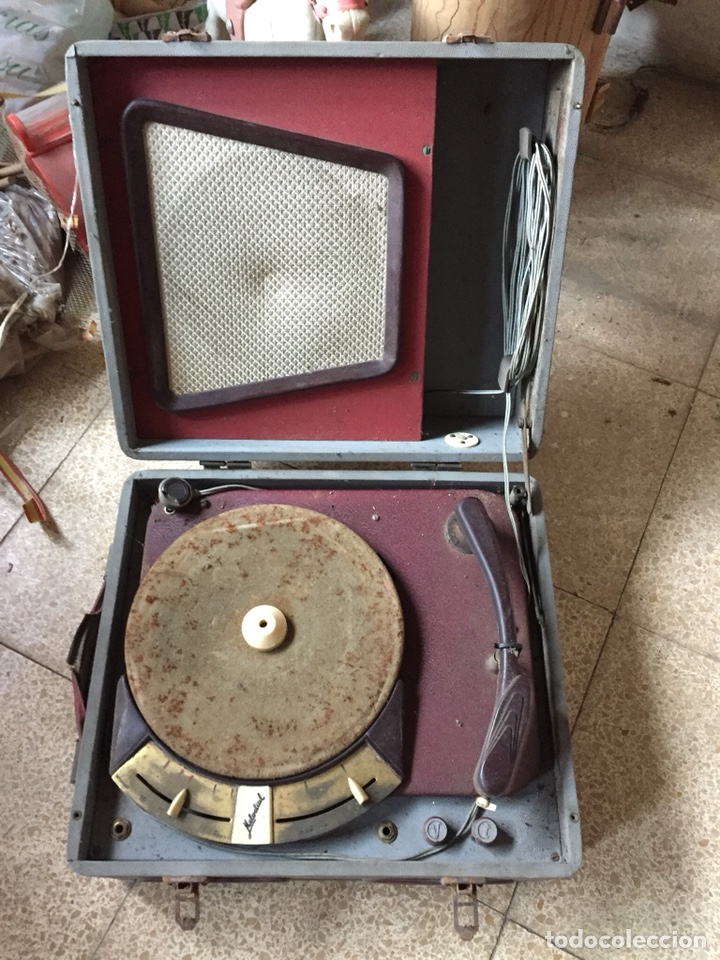 TOCADISCOS DE MALETA ANTIGUO VINTAGE RETRO MELODIAL (Radios, Gramófonos, Grabadoras y Otros - Gramófonos y Gramolas)