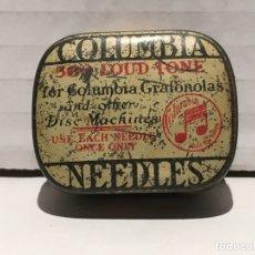 Gramófonos y gramolas: CAJA DE AGUJAS DE GRAMOFONO COLUMBIA. Lote 179557295