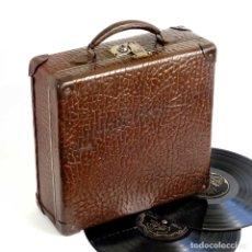 Gramófonos y gramolas: MALETÍN FRANCÉS PARA DISCOS DE PIZARRA 1910. MUY BUENO. Lote 179558430