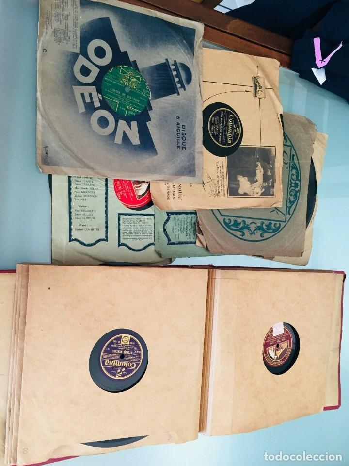Gramófonos y gramolas: ¡GRAN OFERTA ! Antiguo GRAMOFONO DE MALETA-HIS MASTER VOICE-GRAN LOTE DE 18 DISCOS-FUNCIONA - Foto 12 - 180087368