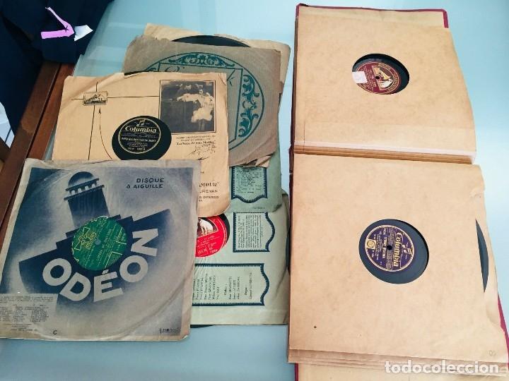 Gramófonos y gramolas: ¡GRAN OFERTA ! Antiguo GRAMOFONO DE MALETA-HIS MASTER VOICE-GRAN LOTE DE 18 DISCOS-FUNCIONA - Foto 13 - 180087368