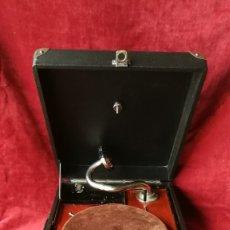 Gramófonos y gramolas: GRAMOFONO PATHÉ, FUNCIONANDO, VER VIDEO Y DESCRIPCION. Lote 180411802