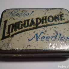 Gramófonos y gramolas: ANTIGUA CAJA LINGUAPHONE AGUJAS GRAMOFONO. INGLESA VINTAGE.. Lote 181083025