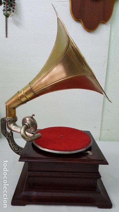 Gramófonos y gramolas: GRAMOFONO SSS MADE IN GERMANY - Foto 3 - 149398018