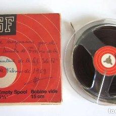 Gramófonos y gramolas: CINTA BASF EN LA CAJA ACTO INAUGURACIÓN CIUDAD SANITARIA SEGURIDAD SOCIAL LA FÉ VALENCIA 1969. Lote 181708601