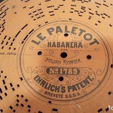 Gramófonos y gramolas: DISCO DE CARTÓN TROQUELADO PARA GRAMÓFONO ARISTÓN. Lote 182276096