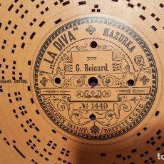 Gramófonos y gramolas: DISCO DE CARTÓN TROQUELADO PARA GRAMOFONO ARISTON. Lote 193977612