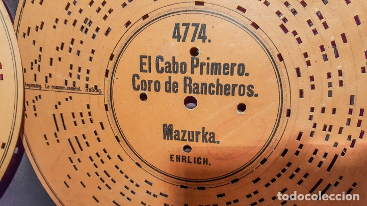 DISCO DE CARTÓN TROQUELADO S.XIXI (Radios, Gramófonos, Grabadoras y Otros - Gramófonos y Gramolas)